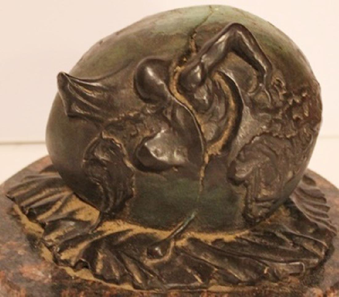 The Birth of a New Being - Patina Bronze - Salvador