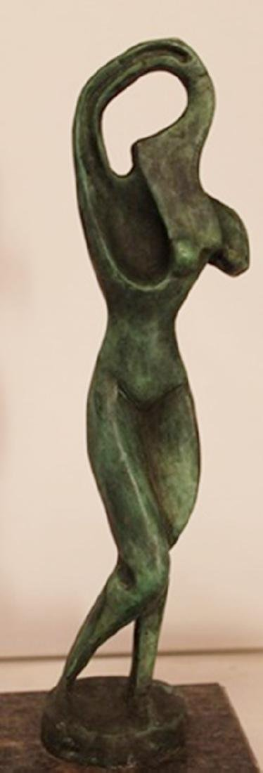 Patina Bronze Sculpture - Alexander Archipenko