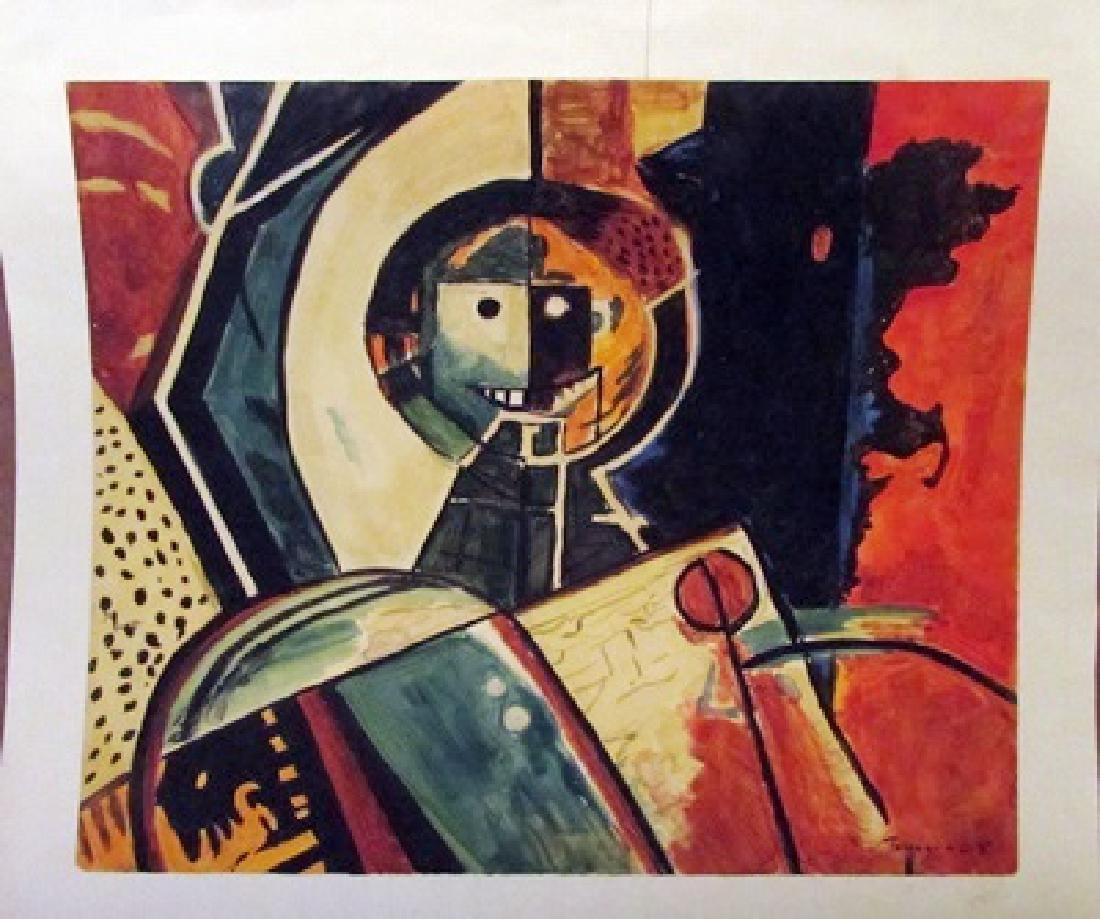 Rufino Tamayo - The Robot Watercolor
