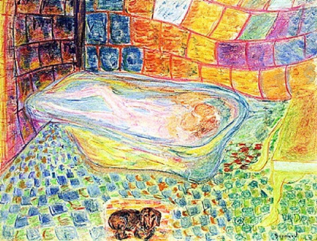 Pierre Bonnard - Woman in the Bathtub 1910 Pastel