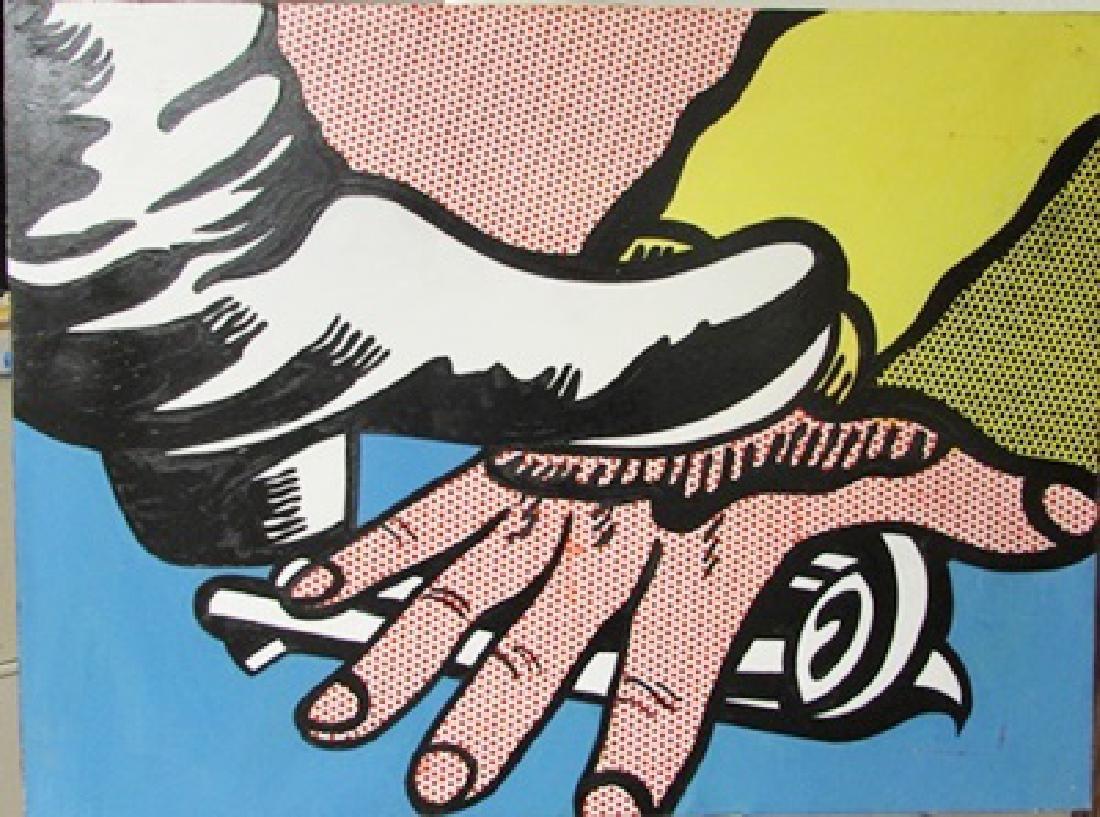 Roy Lichtenstein - Foot and Hand 1988 Oil