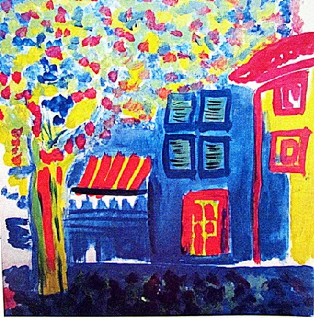 Raoul Dufy - Blue House 1950 Oil