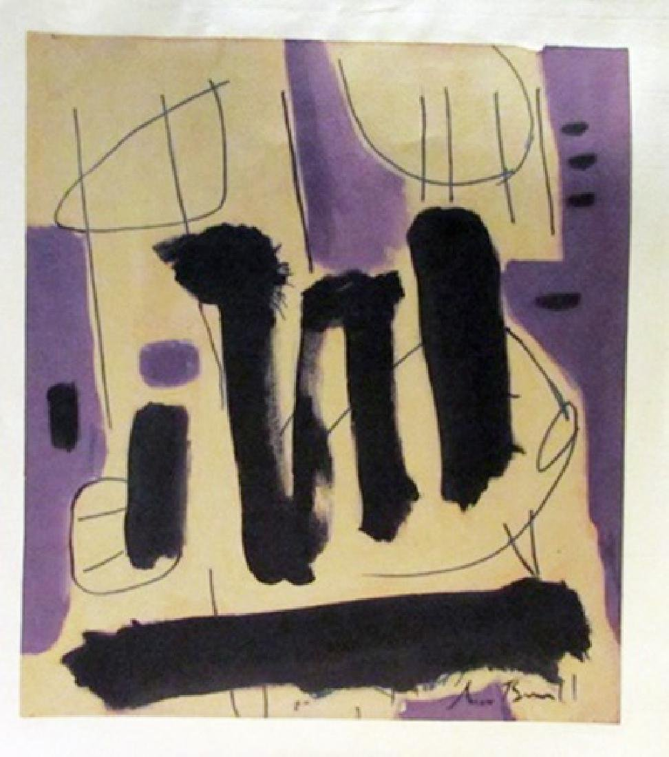 Robert Motherwell - Composition Watercolor