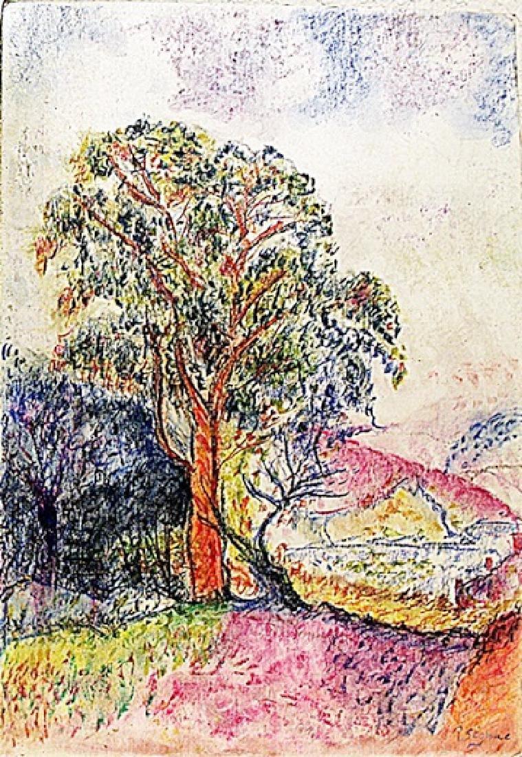 Paul Signac - Landscape of Avignon 1899 Pastel