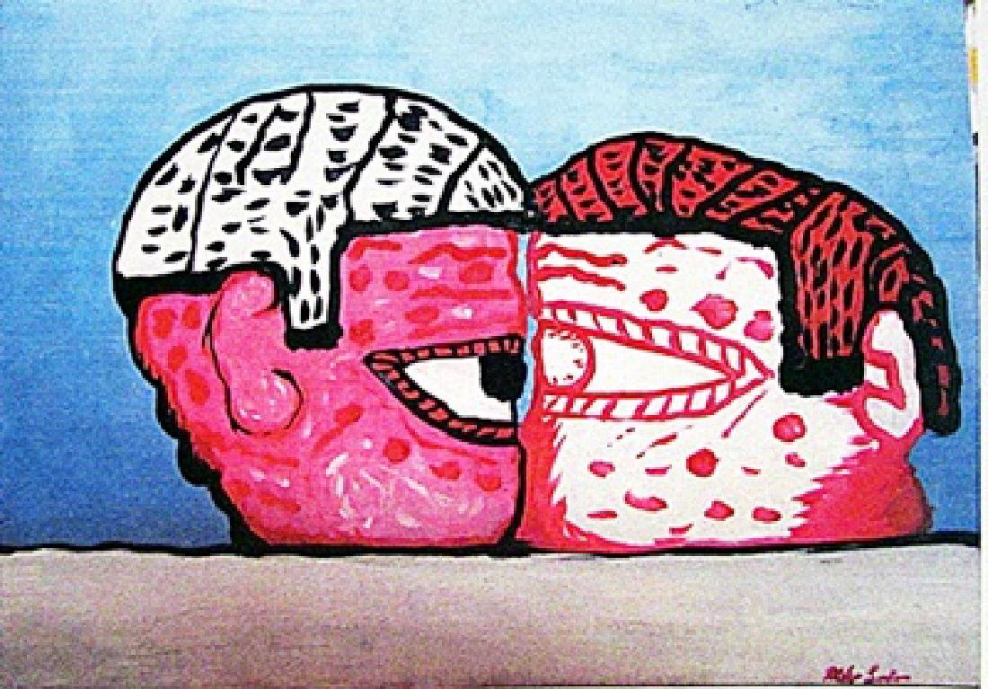 Philip Guston - Two Mans 1970 Oil