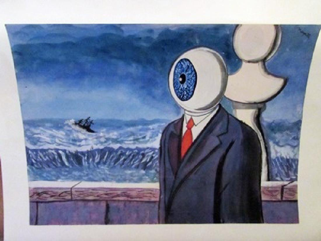 Rene Magritte - The Eye Watercolor