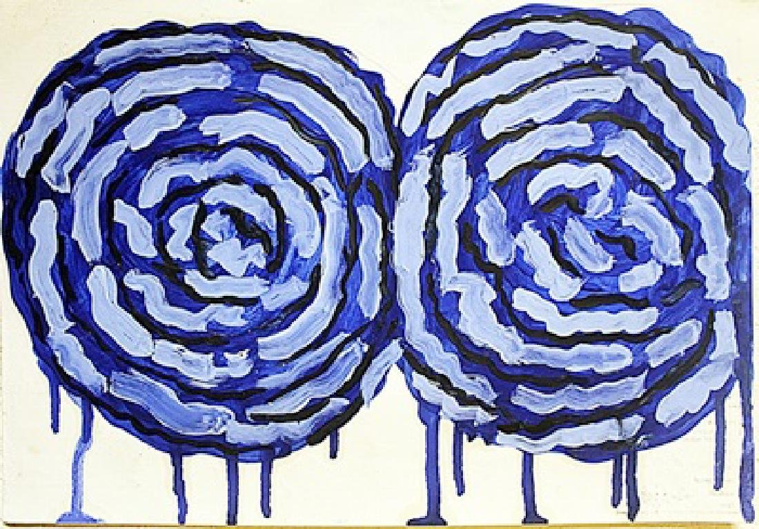 Cy Twombly - Two Roses 1970 Oil