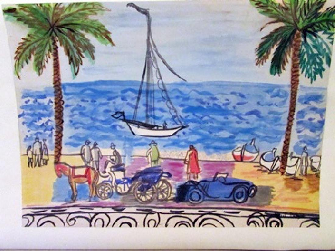 Raoul Dufy - The White Boat Watercolor