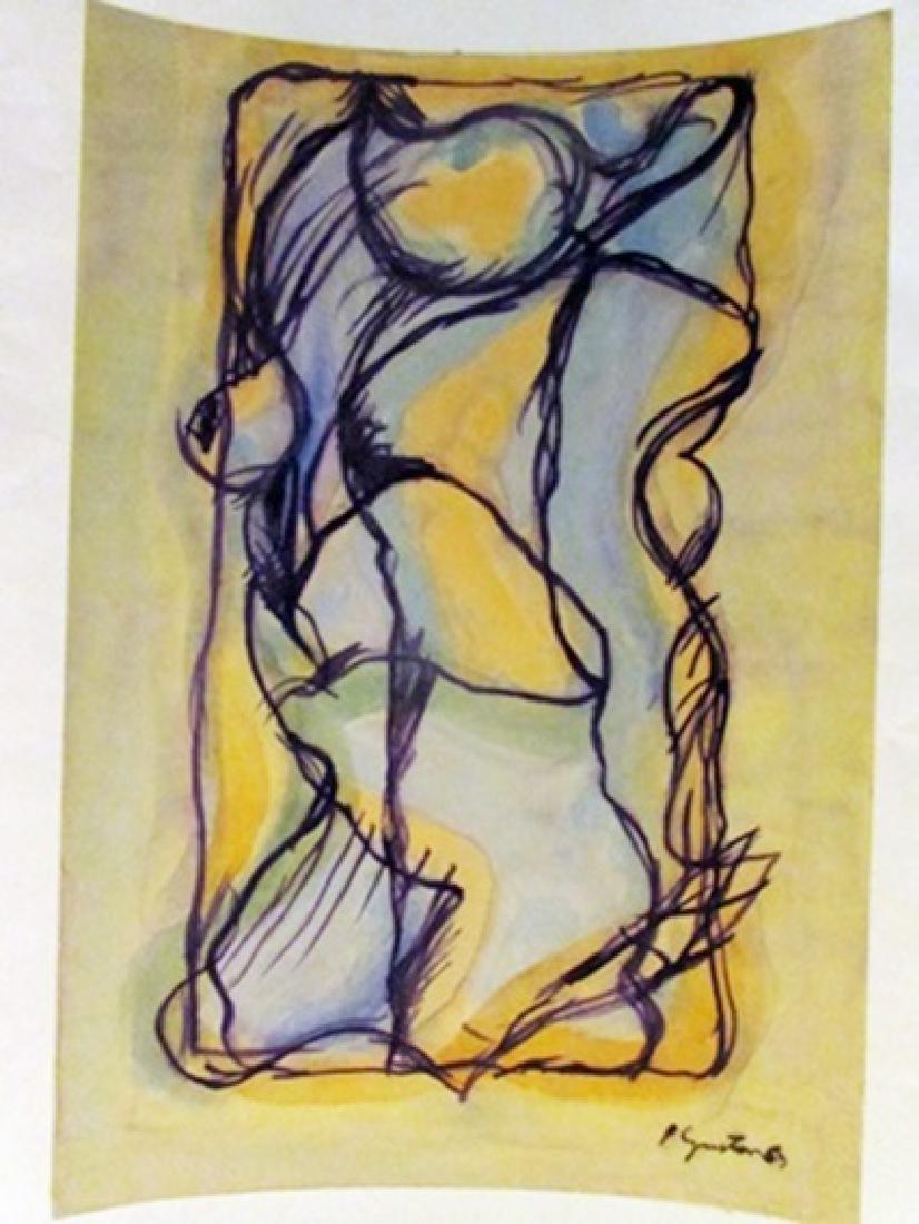 Philip Guston - Composition Watercolor