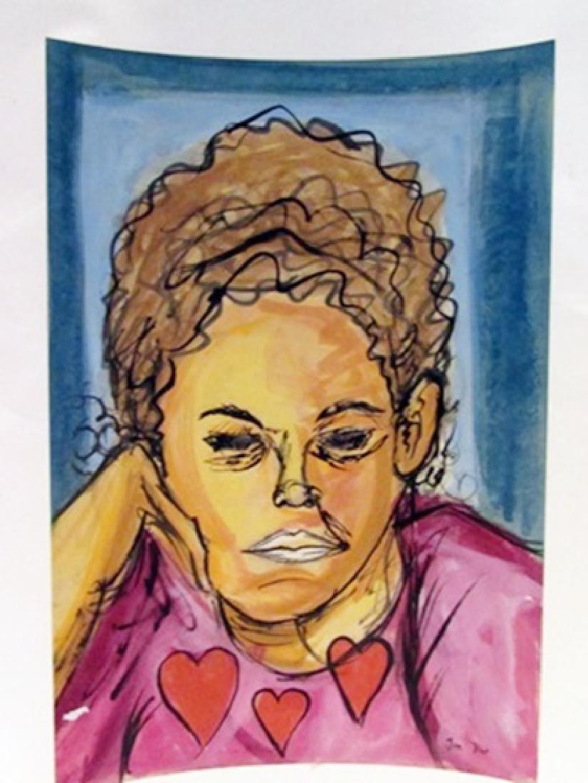 Jim Dine - Mr Clara 1960 Watercolor