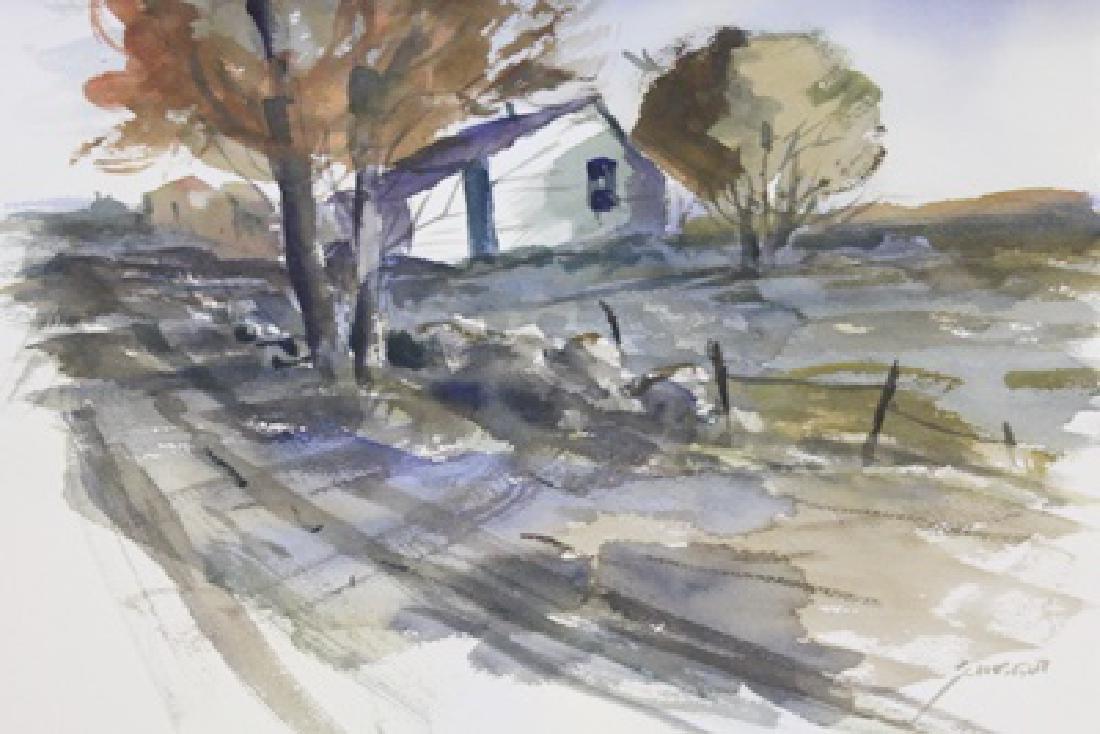 """PURPLE ROOFTOPS""  BY MICHAEL SCHOFIELD"