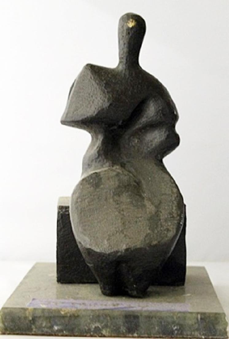 Bronze Sculpture with Marble Base - Henry Moore