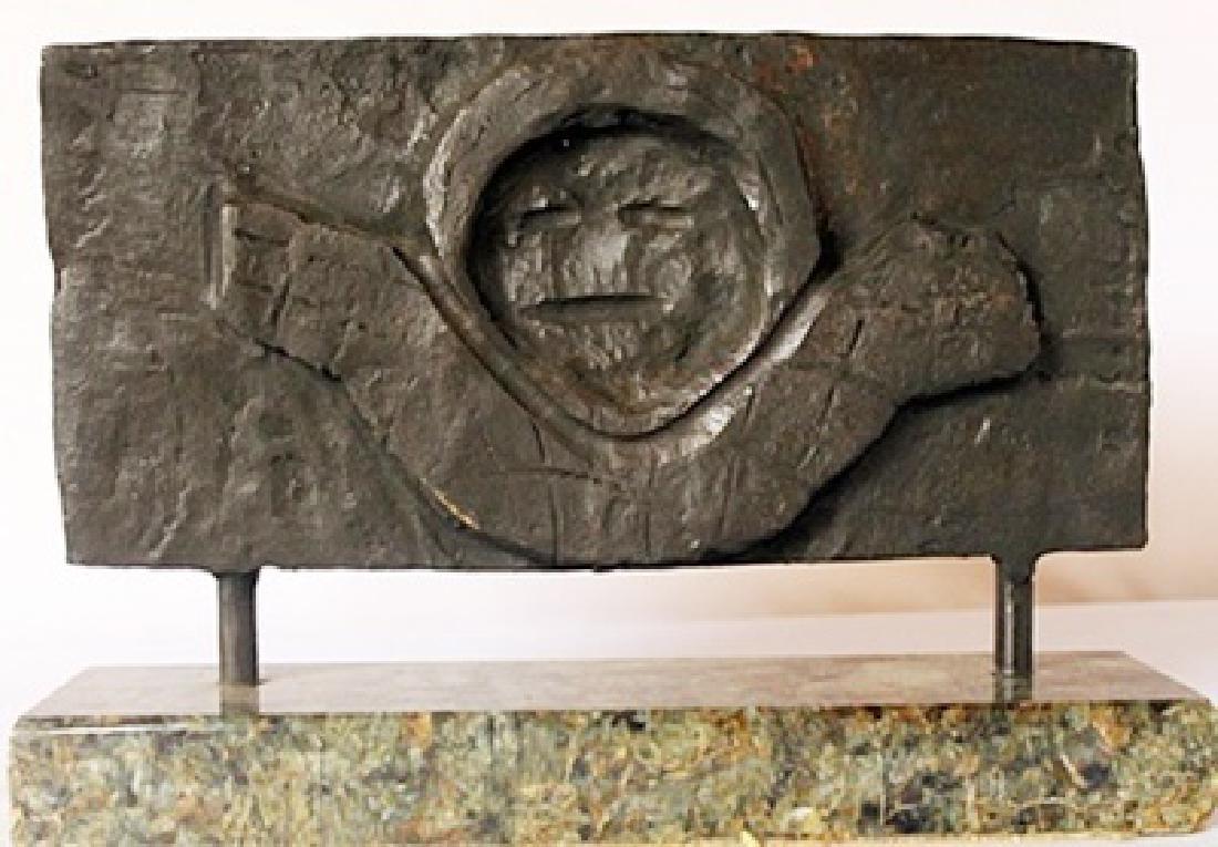 Bronze sculpture - Marble Base - Max Ernst