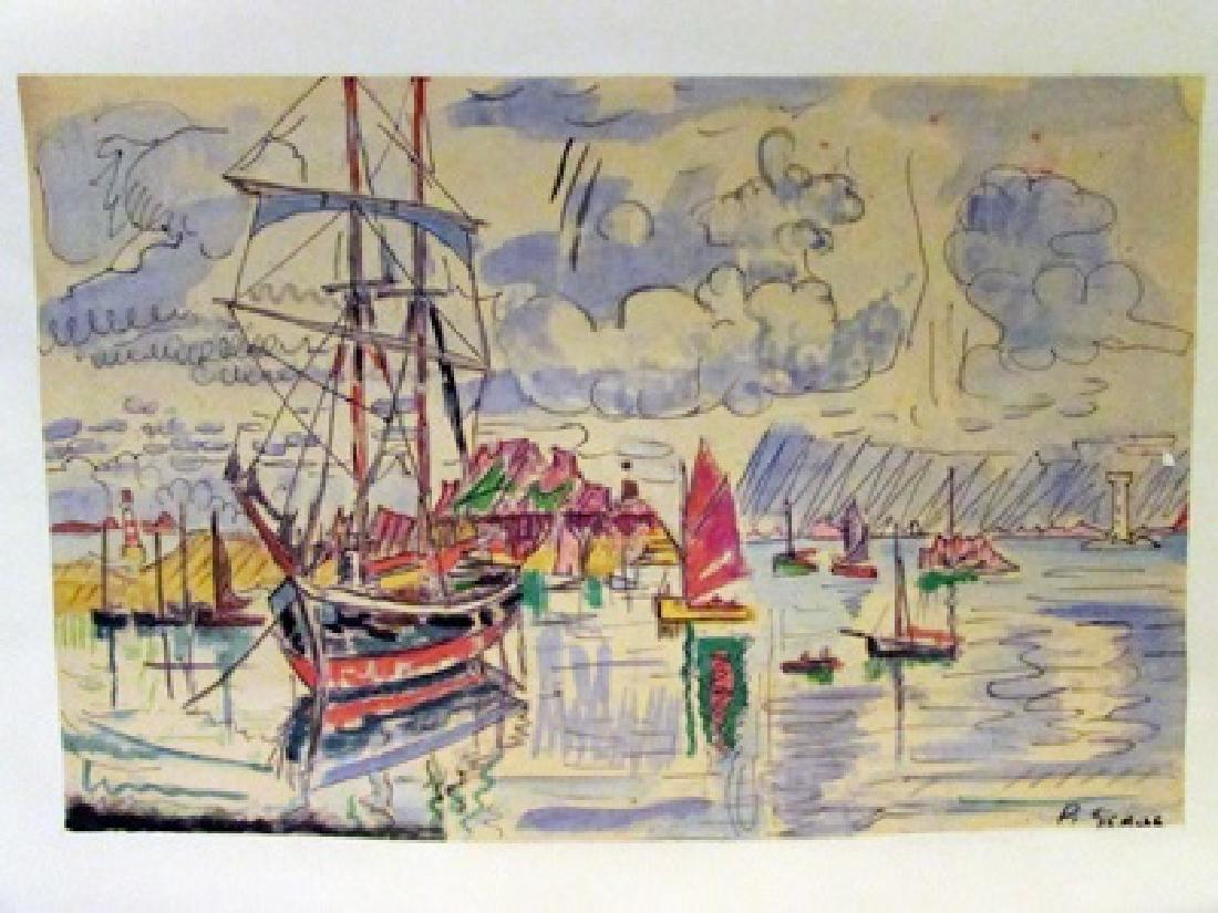Paul Signac - The Port of Saint Tropez Watercolor