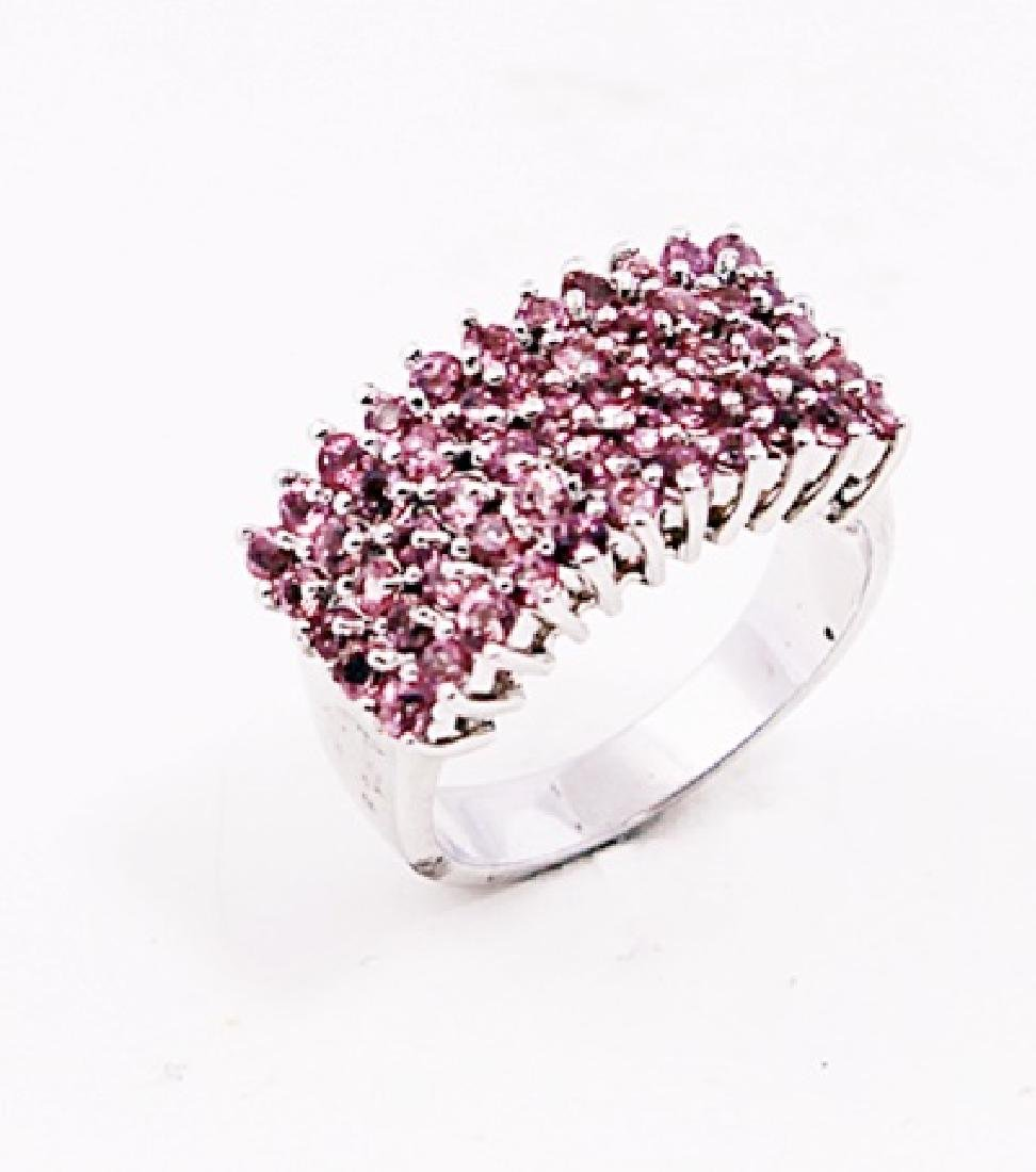 SILVER RING WITH PINK TOURMALINE