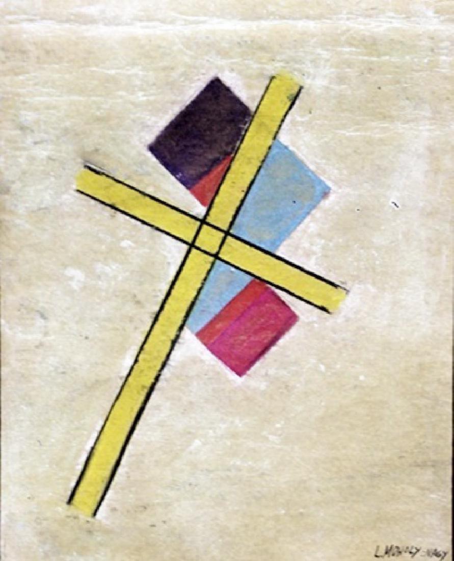 The Cross - Laszlo Moholy Nagy - Pastel On Paper