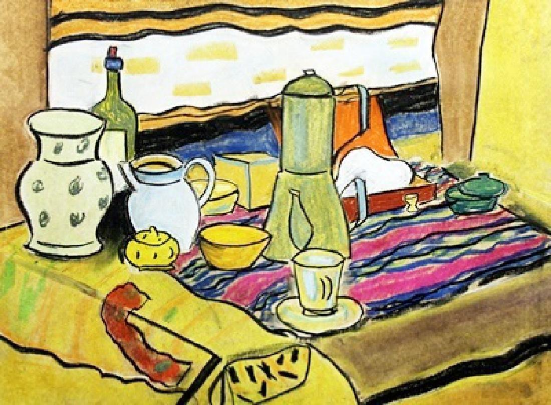 Untitled Pastel On Paper - Hermann Max Pechstein