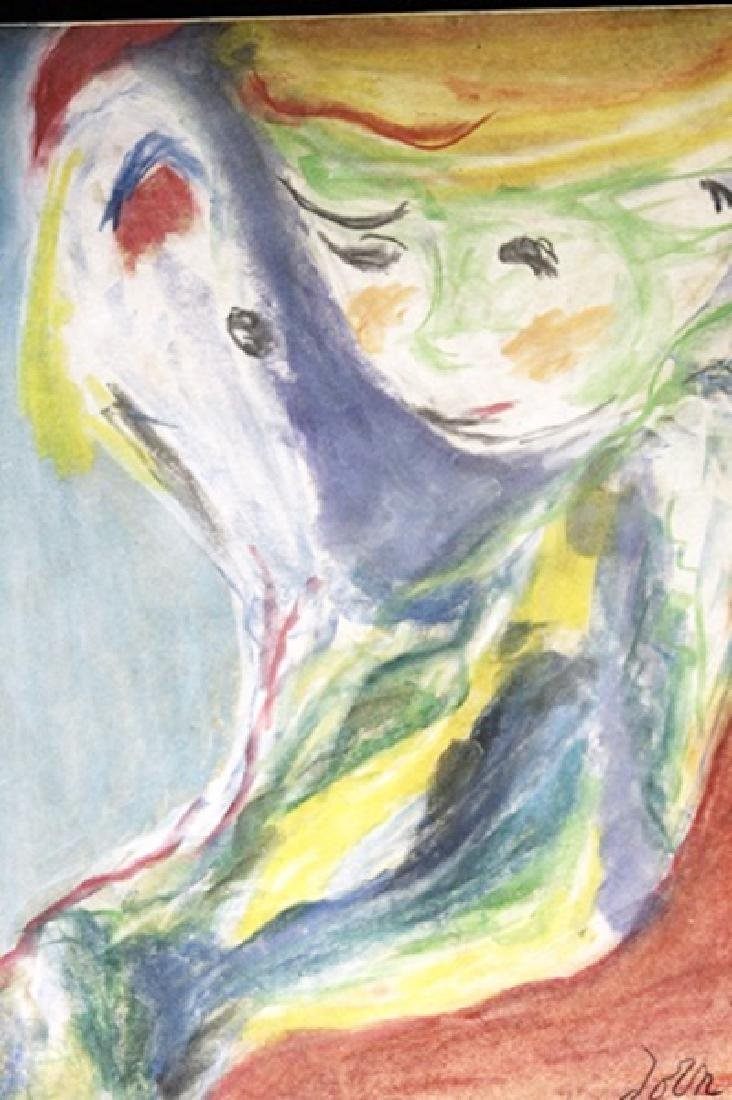 Boy With Dog - Asger Jorn - Pastel On Paper - 2