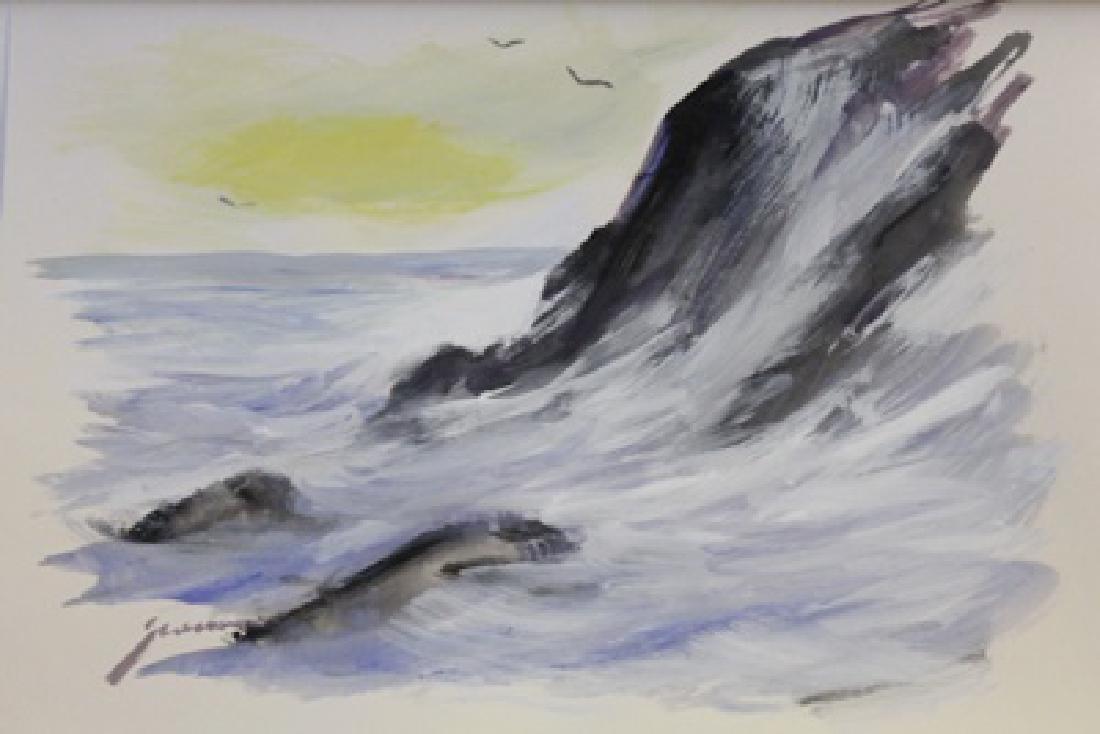 """ROCKY WAVES""  BY MICHAEL SCHOFIELD"
