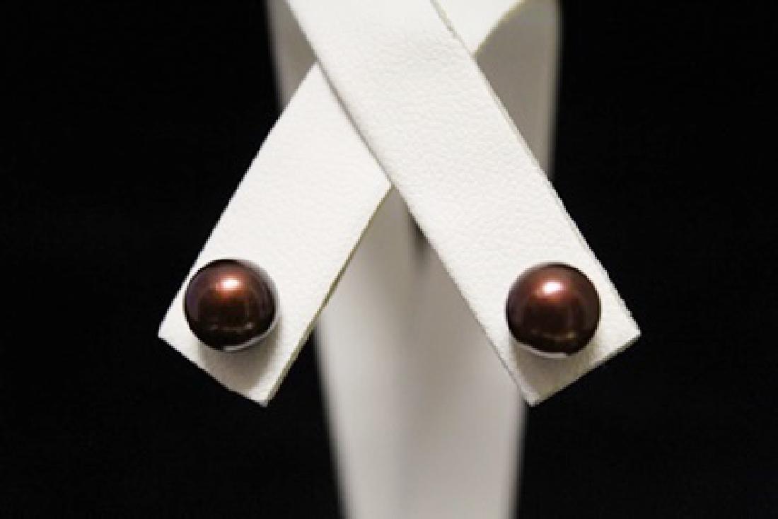 Beautiful 14kt Gold over Silver Broka Pearl Earrings
