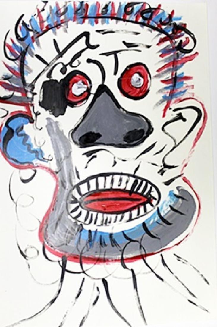 Untitled Acrylic On Paper - Jean Michel Basquiat