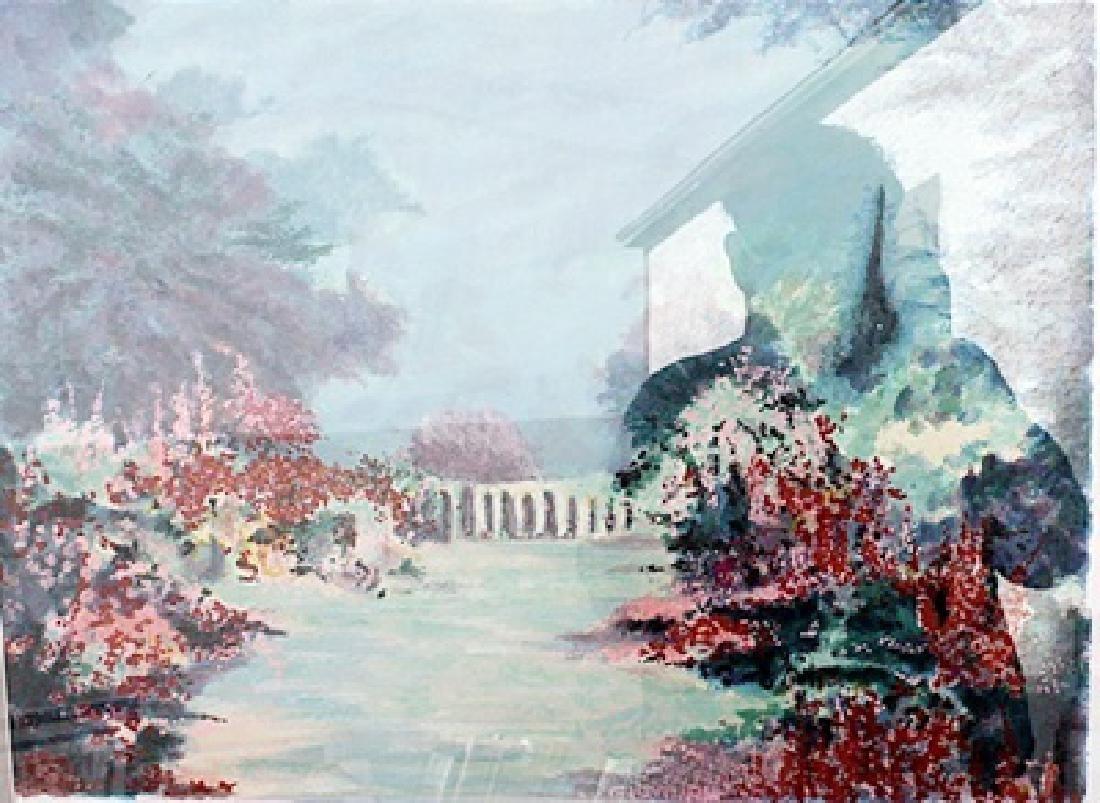 Flower Garden - R. Brook - Lithograph