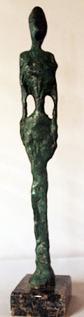 Patina Bronze Sculpture - Aleberto Giacometti