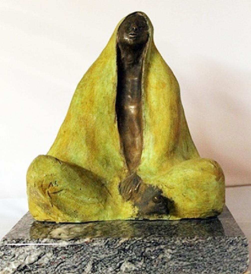 Patina Bronze Sculpture - Marble Base - Gorman