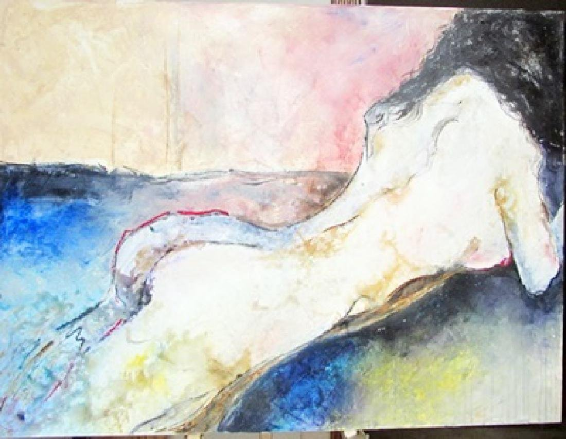 Original Signed Gaylord Soli - Reclining Nude