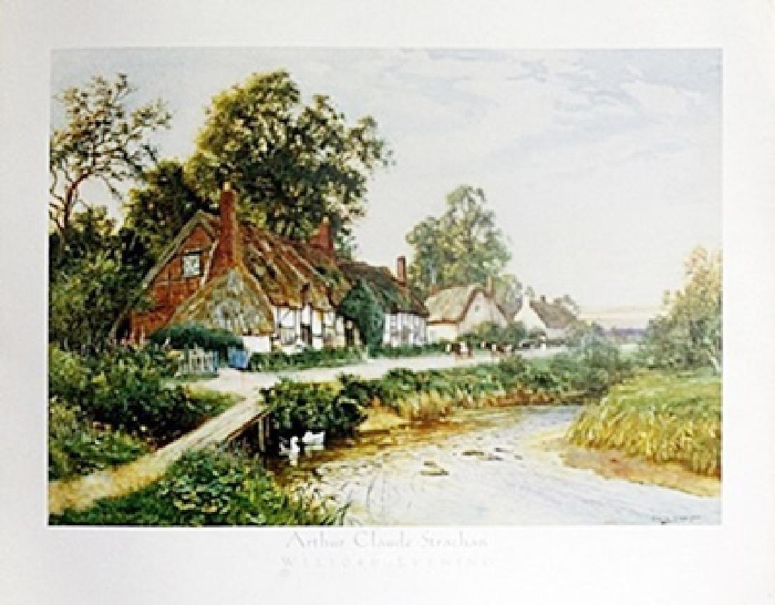 "Fine Art Print ""Welford Evening"" by Arthur C. Strachan"