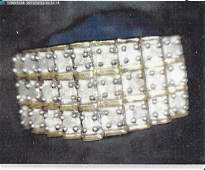 Ladys 18k over silver diamond ring