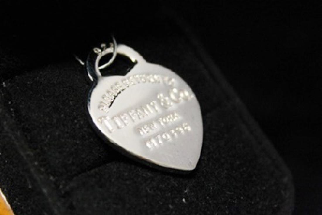 Fancy T & Co. Heart Silver Pendant (44M) - 2
