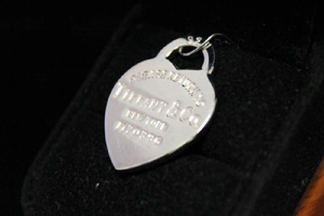 Fancy T & Co. Heart Silver Pendant (44M) - 3