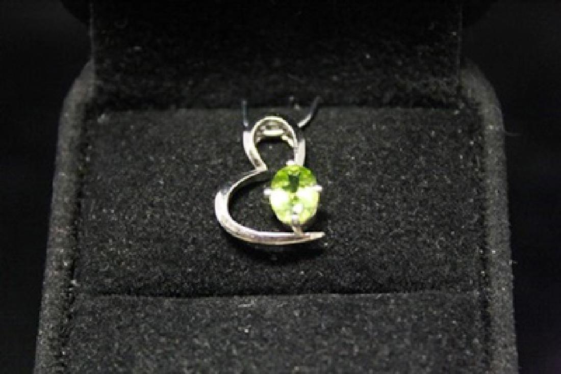 Gorgeous Heart Aquamarine Silver Pendant (46M)