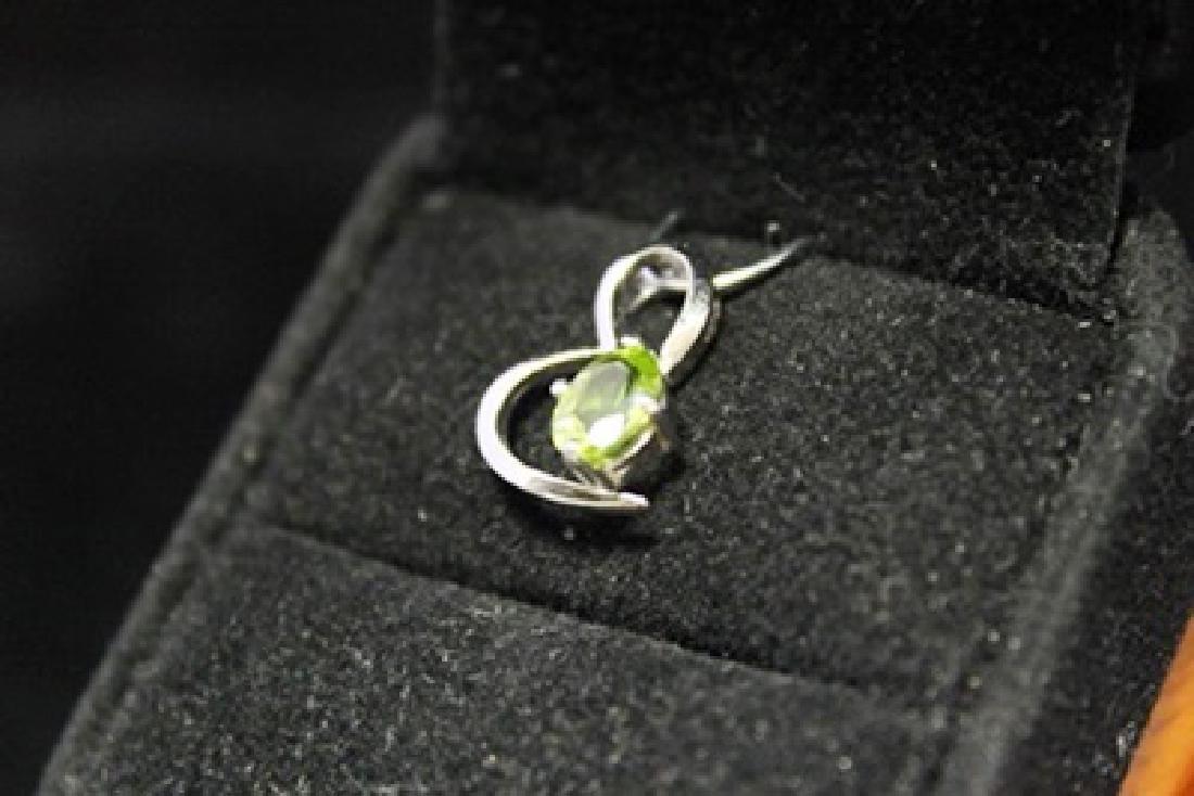 Gorgeous Heart Aquamarine Silver Pendant (46M) - 3