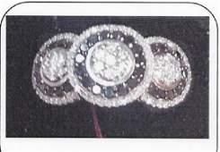 Ladys siler diamond ring