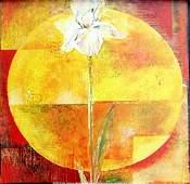 """Fine Art Print """"White Iris"""" by Yvonne Dulac"""