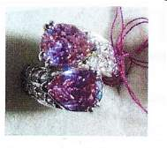 Ladys silver lab pink sapphire ring