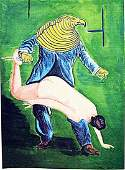 Max Ernst - The Bird 1960 Watercolor