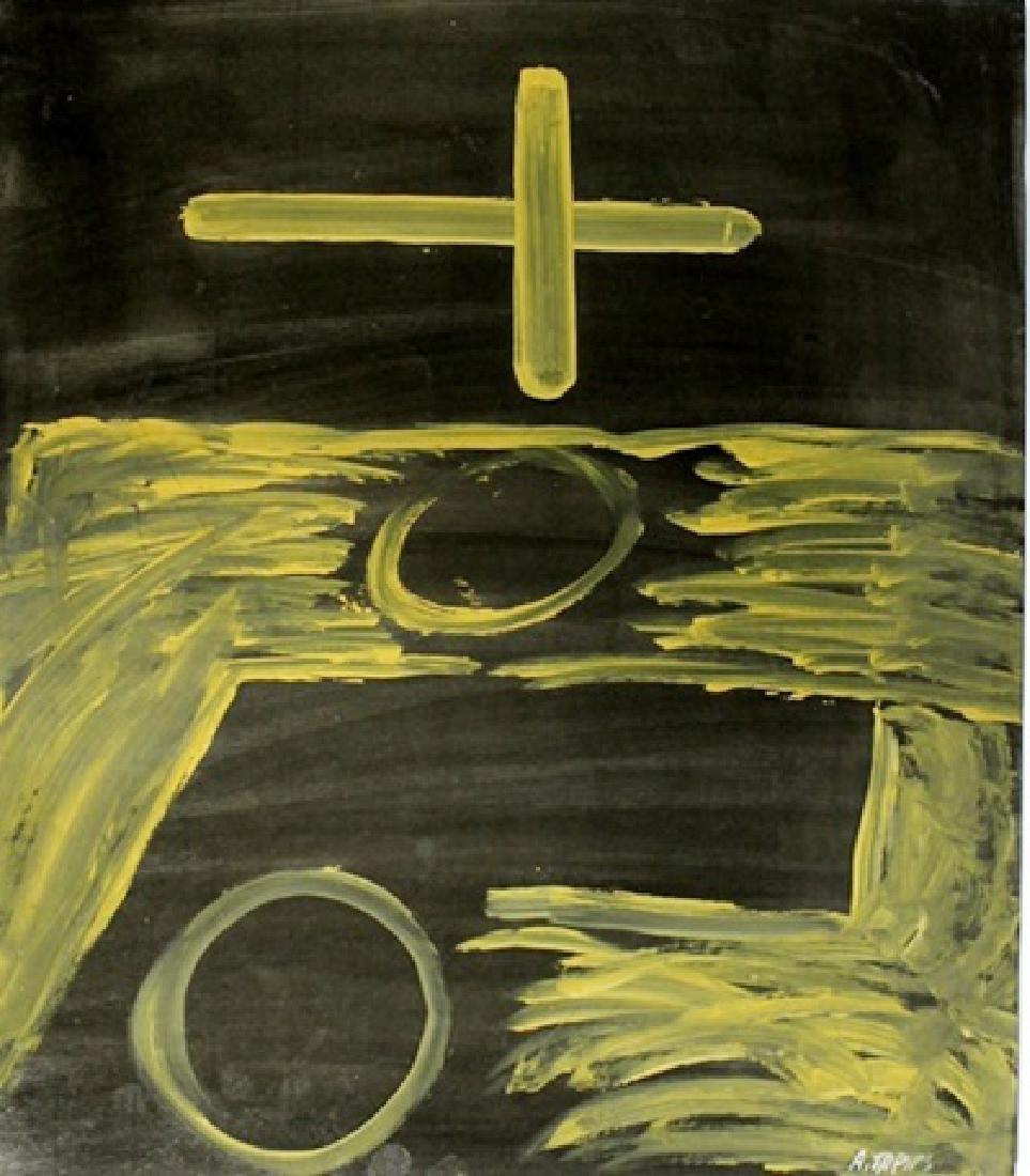 The Church - Antoni Tapies - Oil On Paper