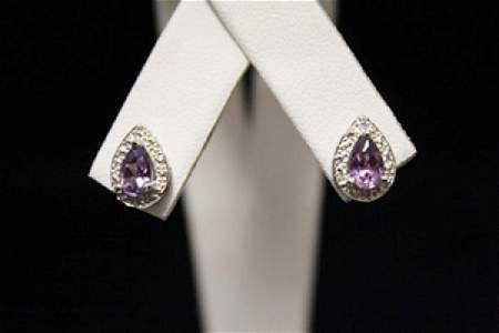 Exquisite Lab Ruby Silver Earrings (45M)