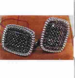 Ladys silver diamond design earring