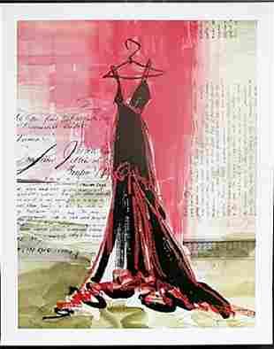 Fine Art Print Perfect Black Dress by Kimberly Han