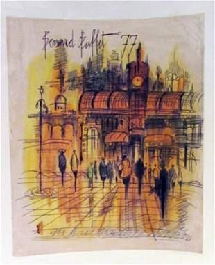 Bernard Buffet Paris Watercolor