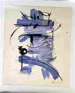 Georges Mathieu Composition Watercolor