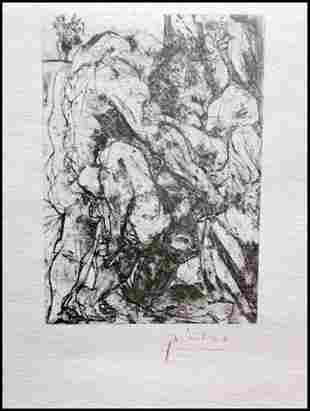 Signed Pablo Picasso Etching PP51