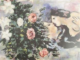Signed Lithograph Marc Chagall H124