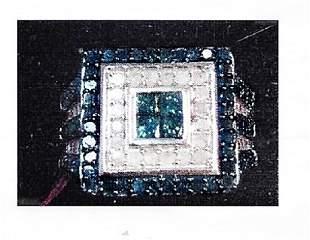 Lydys silver diamond ring