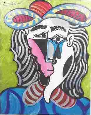 Mousquetaire Pablo Picasso Oil On Canvas