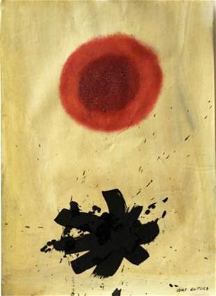 Adolph Gottlieb Oil On Paper